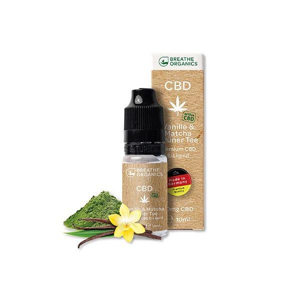 Premium E-Liquid (30 mg) active CBD-vel / Vanille & Grüne Tea