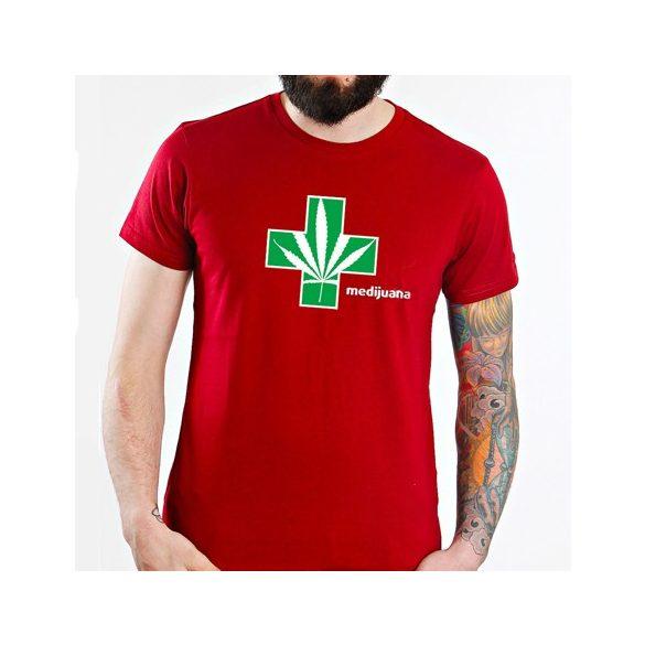 MEDIJUANA T-SHIRT (piros)