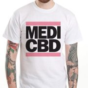 MEDI CBD T-SHIRT (fehér/pink)