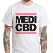 MEDI CBD T-SHIRT (weiß/pink)
