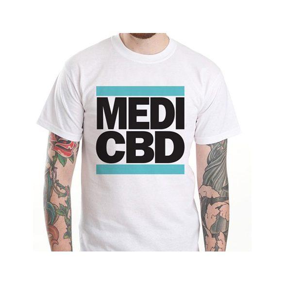 MEDI CBD T-SHIRT (weiß/blau)