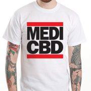MEDI CBD T-SHIRT (fehér/piros)
