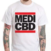 MEDI CBD T-SHIRT (weiß/rot)