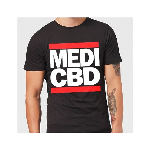 MEDI CBD T-SHIRT (fekete/piros)