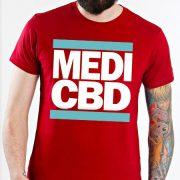 MEDI CBD T-SHIRT (piros/kék)